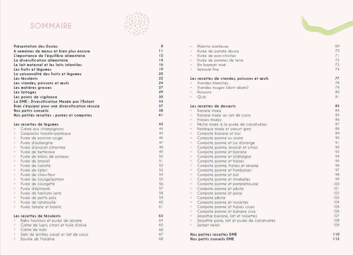 Sommaire Livre diversification Dosies